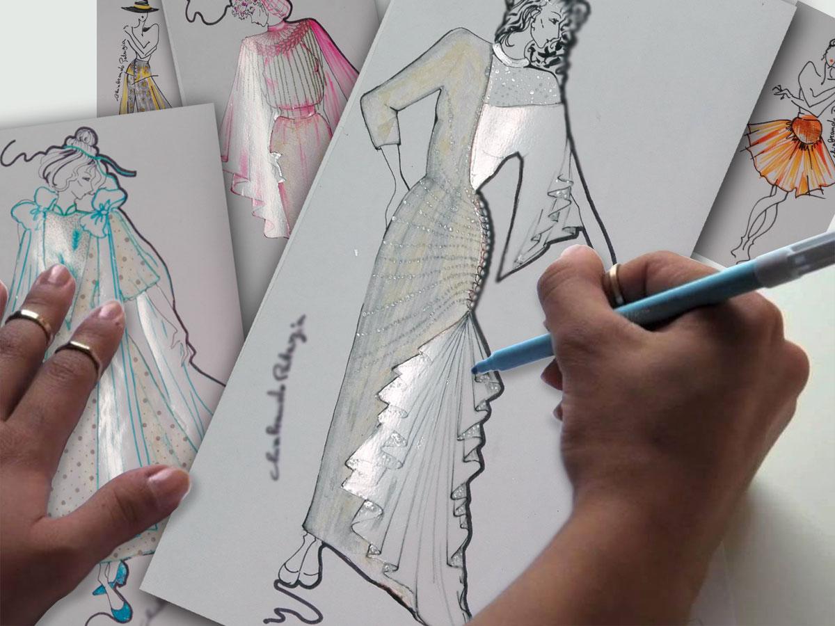 Un outfit da sposa unico: a NOZZE DA SOGNO lo stilista lo progetta insieme a te seguendo le tue ispirazioni