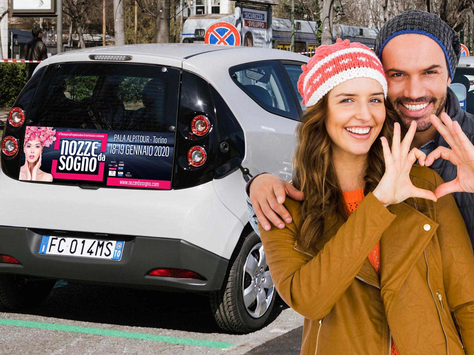 Scopri a NOZZE DA SOGNO come avere gratis 12 mesi di abbonamento al servizio di Car Sharing di BlueTorino